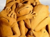 """""""Frogs Galore"""" was carved by Susanne Ruseler of the Netherlands and Hanneke Supply of Belgium. (Graham Denholm/Getty Images)"""
