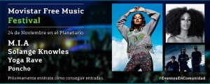 Movistar Free Music 2013: M.I.A. y Solange Knowles en Bs As