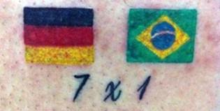 El brasileño que se tatuó el 7 a 1