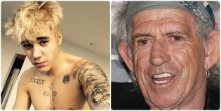 Todo mal entre Justin Bieber y Keith Richards
