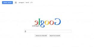 Google está al revés