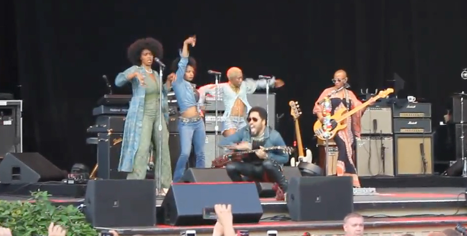 El accidente de Lenny Kravitz