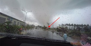 La naturaleza desató su furia en forma de tifón