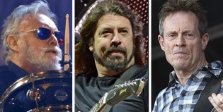 Foo Fighters con Roger Taylor y John Paul Jones