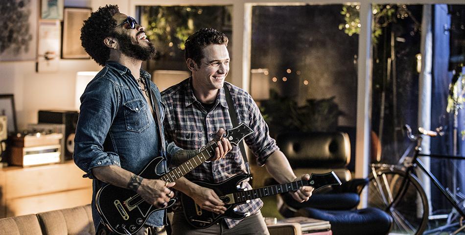 James Franco y Lenny Kravitz rockean juntos