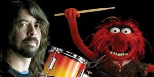 Dave Grohl desafía a los Muppets en la batería
