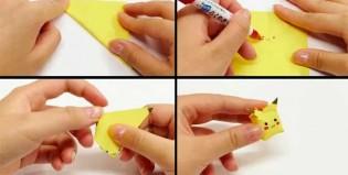 Hace un Pikachu de origami