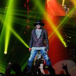 """of Guns N' Roses performs at The Joint inside the Hard Rock Hotel & Casino during the opening night of the band's second residency, """"Guns N' Roses - An Evening of Destruction. No Trickery!"""" on May 21, 2014 in Las Vegas, Nevada."""