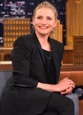 """NEW YORK, NEW YORK - APRIL 06:  Cameron Diaz Visits """"The Tonight Show Starring Jimmy Fallon"""" at NBC Studios on April 6, 2016 in New York City.  (Photo by Theo Wargo/Getty Images for NBC)"""