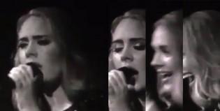Adele se olvidó la letra de una de sus canciones