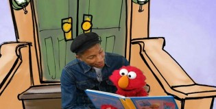 Pharrell Williams le enseña a leer a Elmo de Plaza Sésamo