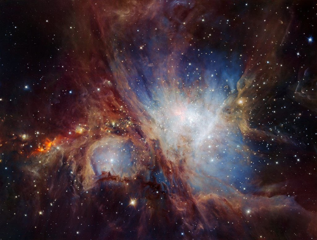 This spectacular image of the Orion Nebula star-formation region was obtained from multiple exposures using the HAWK-I infrared camera on ESO's Very Large Telescope in Chile. This is the deepest view ever of this region and reveals more very faint planetary-mass objects than expected.