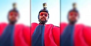 """Extremo: un """"hombre pájaro"""" transmitió su muerte en vivo"""