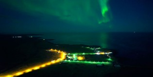 Mirá cómo se ve una aurora boreal desde un drone
