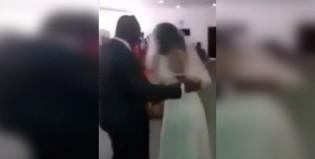 Insólito: la amante del novio llegó al altar vestida de novia