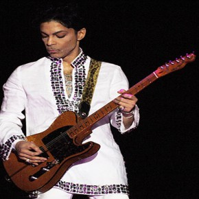 Prince performing at the 2008 Coachella festival in Indio.