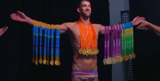 Michael Phelps posó con sus 28 medallas olímpicas