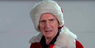 Liam Neeson audiciona para Papa Noel con estilo intimidante