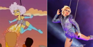 ¡Los Simpsons anticiparon el show de Lady Gaga en el Super Bowl LI!