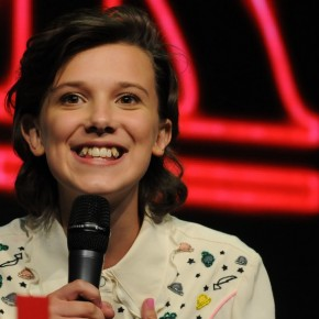 "** RIGHTS: ONLY UNITED STATES, AUSTRALIA, CANADA, NEW ZEALAND ** Buenos Aires, ARGENTINA  - ""Stranger Things"" star Millie Bobby Brown makes an appearance at Comicom Argentina 2017.  Pictured: Millie Bobby Brown  BACKGRID USA 26 MAY 2017   BYLINE MUST READ: The Grosby Group / BACKGRID  USA: +1 310 798 9111 / usasales@backgrid.com  UK: +44 208 344 2007 / uksales@backgrid.com  *UK Clients - Pictures Containing Children Please Pixelate Face Prior To Publication*"