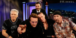U2 estrenó una canción en lo de Jimmy Kimmel: The Little Things That Give You Away