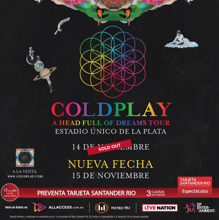coldplay argentina