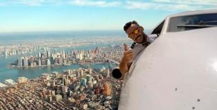 "Demencial: un piloto comercial publicó una selfie ""mortal"""