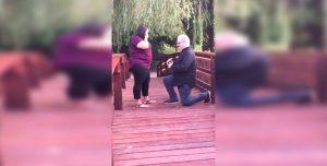 La propuesta de casamiento que terminó en accidente