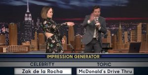 Jimmy Fallon se animó a imitar a Zack De La Rocha de Rage Against the Machine