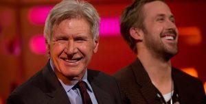 """Insólito: Harrison Ford """"se olvidó"""" del nombre de Ryan Gosling en una entrevista"""