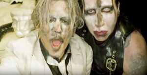 Marilyn Manson y Johnny Depp juntos en el video de SAY10