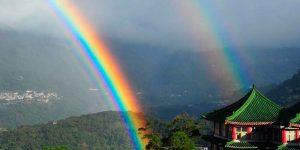 Conmovedor: un arcoíris duró nueve horas en Taiwán