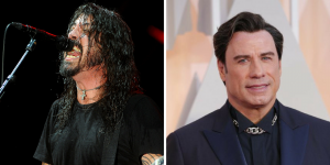 John Travolta apareció de sorpresa en un show de Foo Fighters