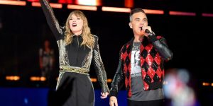 "Robbie Williams cantó ""Angels"" con Taylor Swift"