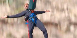 Will Smith hizo bungee en el Gran Cañón