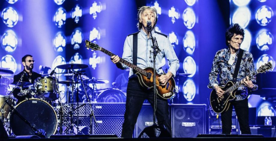 Paul McCartney, Ringo Starr y Ron Wood tocaron juntos en vivo