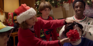 Netflix publicó un video navideño de Stranger Things