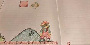 """Un artista dibujó el primer nivel de """"Super Mario"""" (y es maravilloso)"""