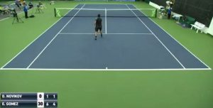 "Un ignoto tenista lanzó un golpe ""extraterrestre"""