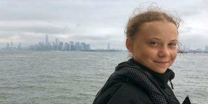 """Greta Thunberg llegó a Nueva York:  """"Mi mensaje a Donald Trump es que escuche a la ciencia"""""""