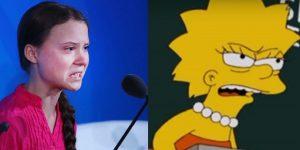 LO HICIERON OTRA VEZ: Los Simpson predijeron el discurso de Greta Thunberg sobre el cambio climático