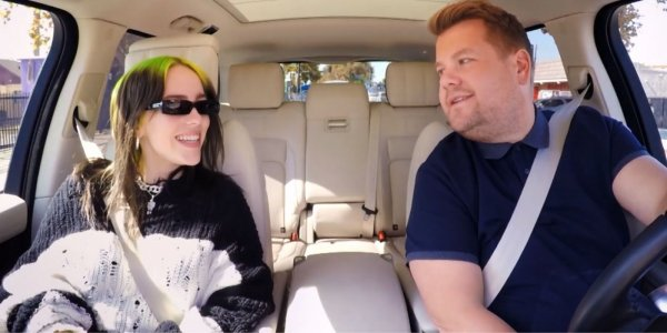 Carpool Karaoke: ¡Billie Eilish fue la gran invitada de James Corden!
