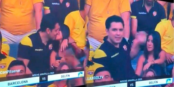 [VIDEO] Una Kiss Cam captó una infidelidad en vivo durante un partido de fútbol y se volvió viral