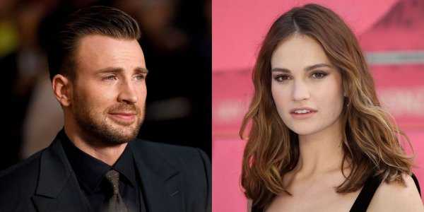 Chris Evans y Lily James juntos en Londres: ¿hay amor?