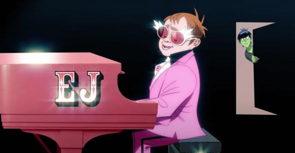 Gorillaz estrena su nueva canción junto a Elton John y 6lack